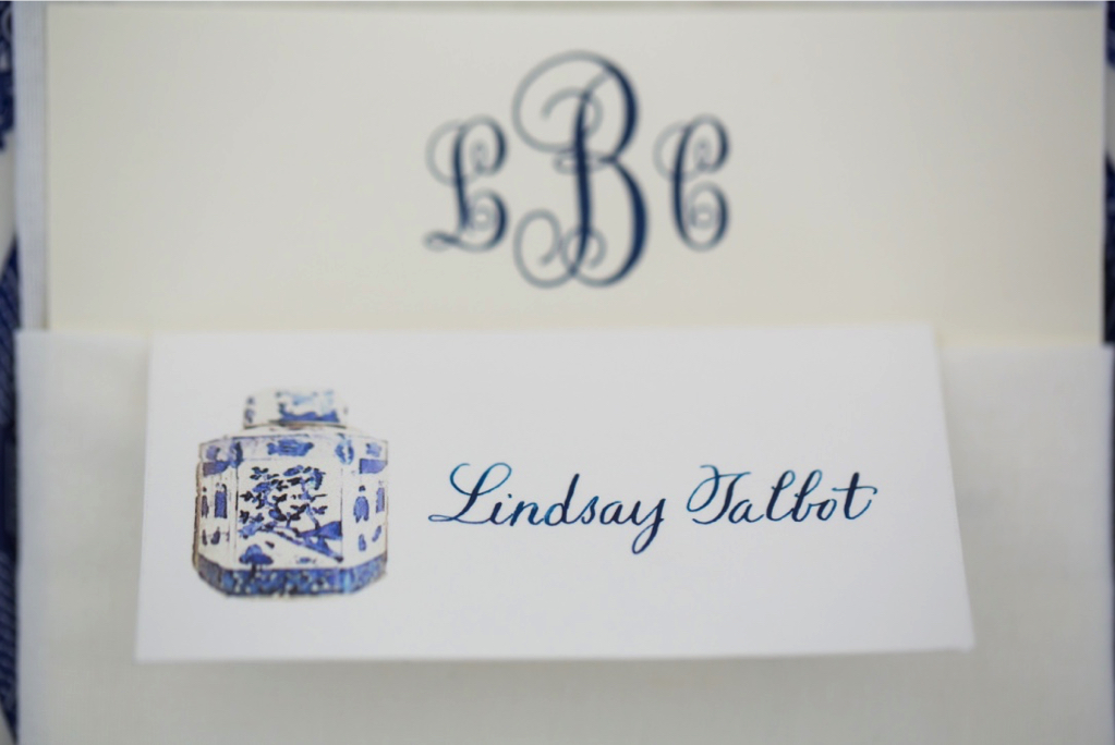 Blue and White calligraphy